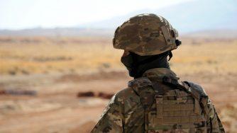 Un soldato russo in Siria (LaPresse)