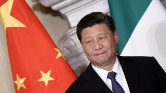Xi Jinping durante la sua visita in Italia (LaPresse)