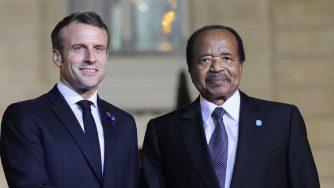 Emmanuel Macron e Paul Biya (LaPresse)
