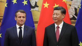 Emmanuel Macron e Xi Jinping (LaPresse)
