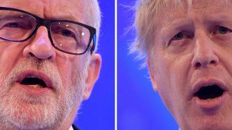 Jeremy Corbyn e Boris Johnson (LaPresse)