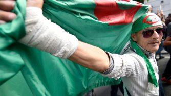 Manifestazione in Algeria (LaPresse)