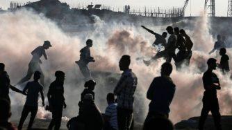 Gaza razzo (La Presse)