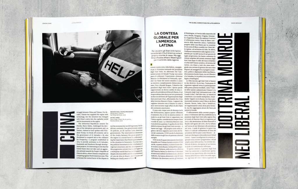 Tutti gli articoli del magazine erano in inglese e italiano