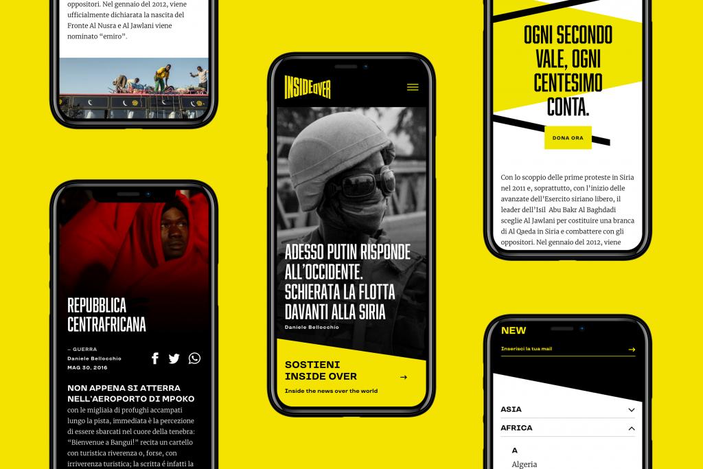 La versione mobile del sito InsideOver