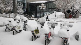 Neve a Sarajevo (LaPresse)