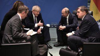 Boris Johnson e Vladimir Putin (LaPresse)