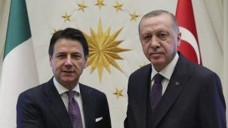 Giuseppe Conte e Recep Tayyip Erdogan (LaPresse)