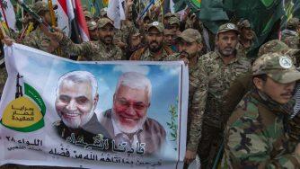 Manifestazione per commemorare Soleimani (LaPresse)