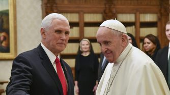 Pence e Papa Francesco