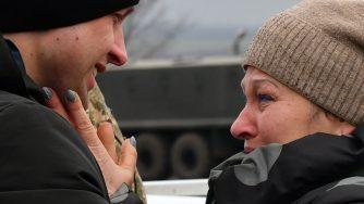 Scambio di prigionieri in Donbass (LaPresse)