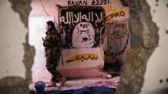 Guerra all'Isis, i curdi a Sinjar (LaPresse)