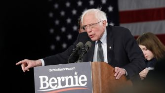 Bernie Sanders comizio (La Presse)
