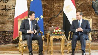 Conte e Al Sisi La Presse)
