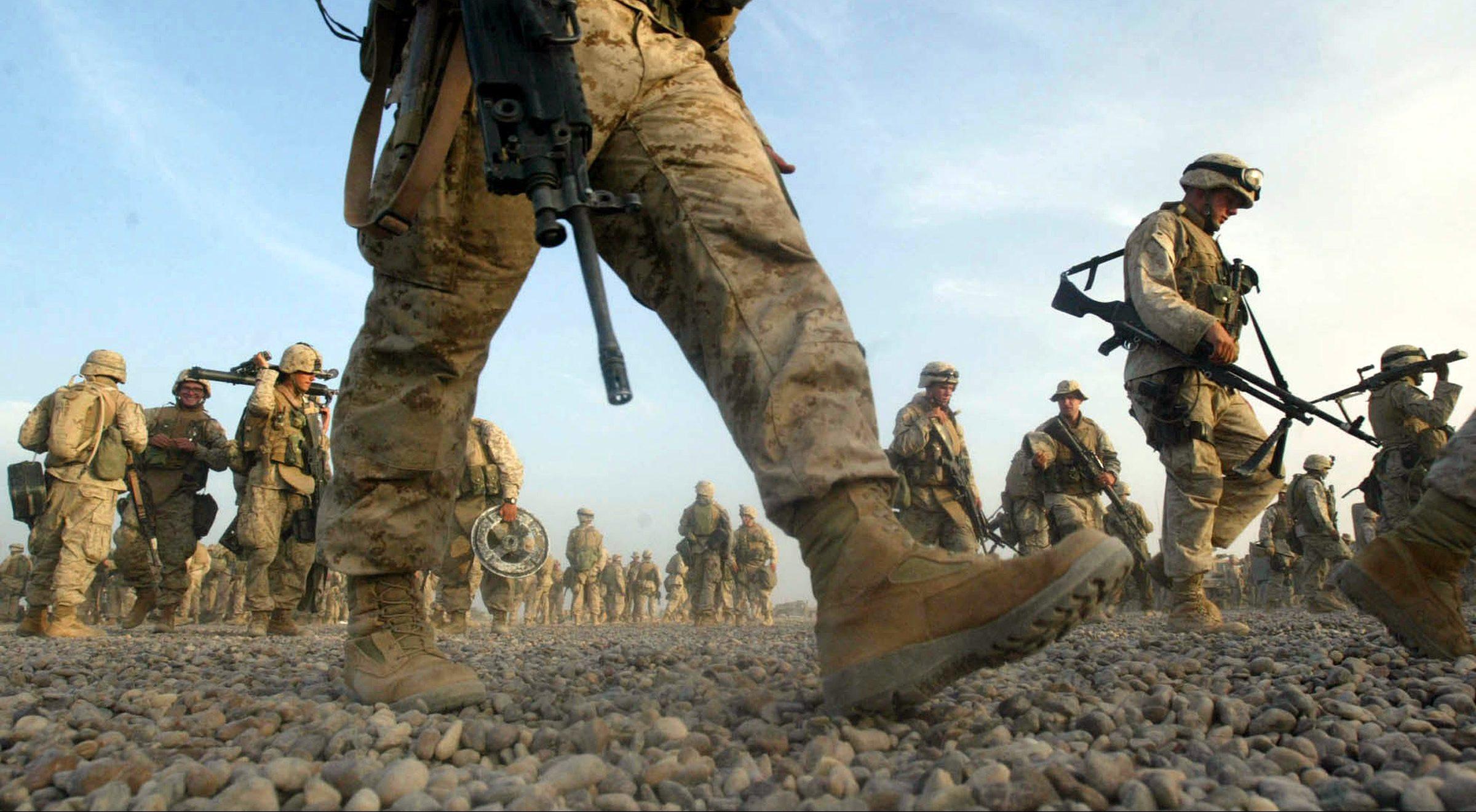 Soldati Usa Marines in Iraq (La Presse)