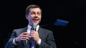 Pete Buttigieg in campagna elettorale