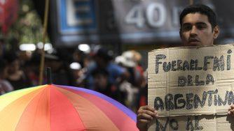 FMI Argentina protesta