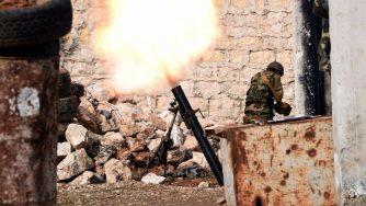 Soldati governativi a Idlib (LaPresse)