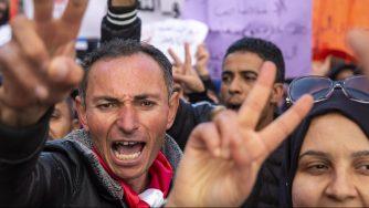 Tunisi proteste (La Presse)
