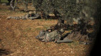 Combattenti filo turchi a Idlib (LaPresse)