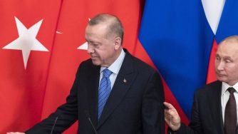 Recep Tayyip Erdogan e Vladimir Putin al vertice su Idlib (LaPresse)