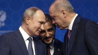 Recep Tayyip Erdogan e Vladimir Putin (LaPresse)