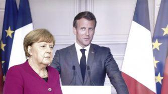 Angela Merkel and Emmanuel Macron (LaPresse)