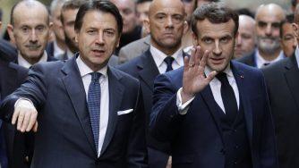 Giuseppe Conte e Emmanuel Macron (LaPresse)