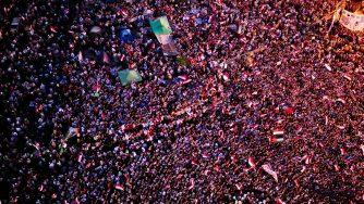 Proteste di Piazza Tharir, Egitto (La Presse)