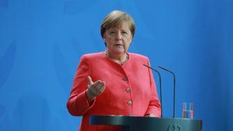 Angela Merkel dopo il Consiglio europeo