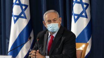 Gerusalemme, Il primo ministro Benjamin Netanyahu alla riunione settimanale di gabinetto