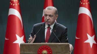 Recep Tayyip Erdogan parla ad Ankara (La Presse)