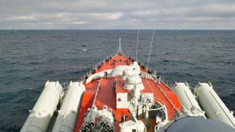 Nave della Marina russa (La Presse)