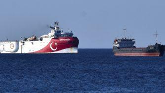 Nave turca nel Mediterraneo orientale