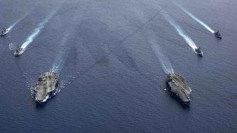 Esercitazioni Marina degli Stati Uniti nel Mar Cinese Meridionale (La Presse)