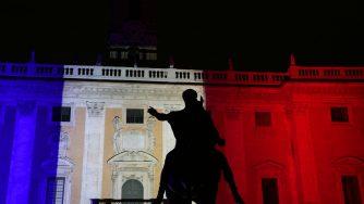 Il Campidoglio si illumina del Tricolore Francese