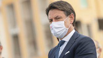 Giuseppe Conte ad Amatrice (La Presse)