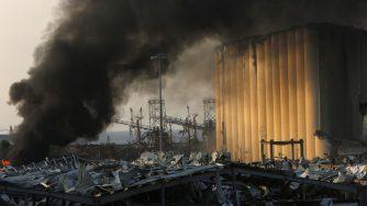 Libano, area del porto dopo esplosione