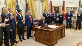 Donald Trump annuncia accordo di pace tra Israele ed Emirati Arabi