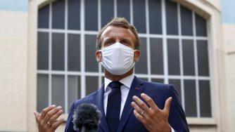 Emmanuel Macron a Villeneuve-la-Garenne (La Presse)