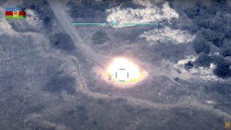 Video bombardamento Azerbaijan in Nagorno Karabakh (La Presse)