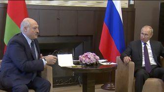 Vladimir Putin e Alexander Lukashenko (LaPresse)