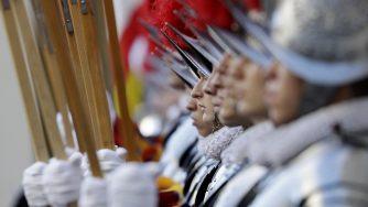 Cerimonia guardie Svizzere in Vaticano (La Presse)