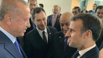 Erdogan e Macron (La Presse)