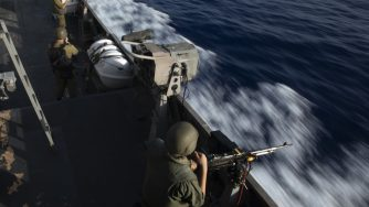 Esercitaizoni della Marina israeliana (La Presse)