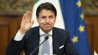 Conte in videoconferenza coi membri del Consiglio europeo (La Presse)
