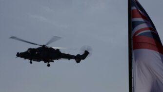 Elicottero del Regno Unito a Cipro (La Presse)