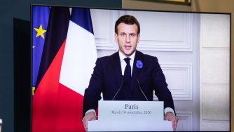Emmanuel Macron in video (Getty)