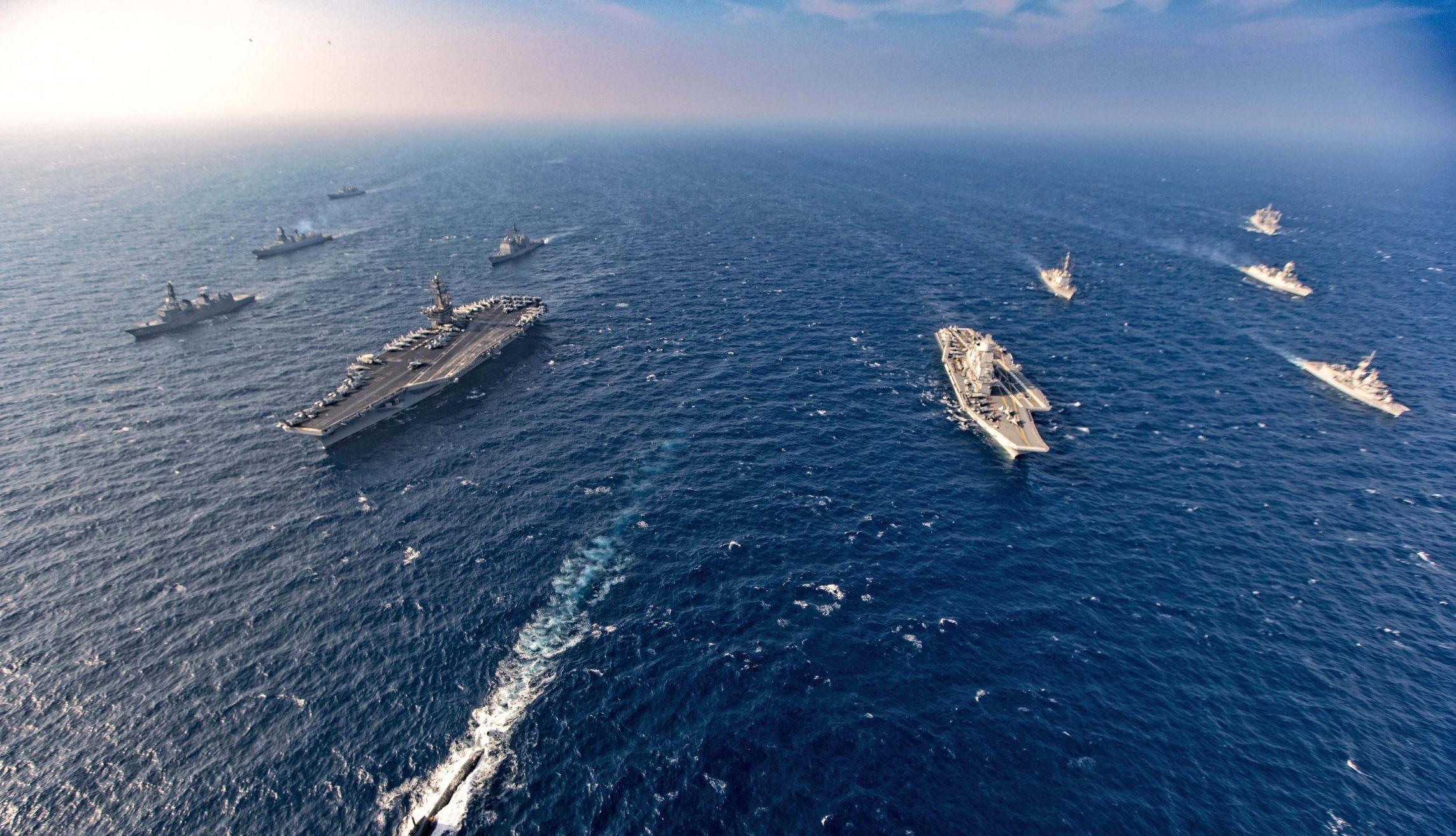 Esercitazione marine India, Usa, Giappone e Australia (La Presse)