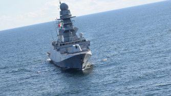 Fregata Martinengo in azione Golfo di Guinea (Marina Militare)